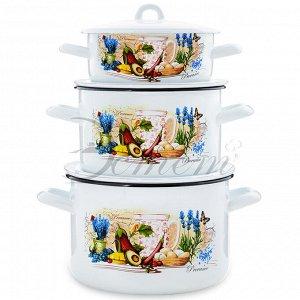 "Набор посуды ""Прованс"" 1,45 л 2,9 л 4,3 л 6 пр"
