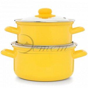 Набор посуды ярко-желтый 2,0л  3,0 л  4 пр