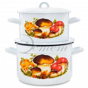 """Набор посуды """"Грибы"""" цилиндрический 2,9 л  4,3 л  4 пр"""
