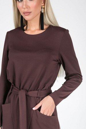Платье Клара №2,Цвет:шоколадный