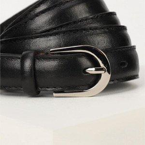 Ремень женский, ширина 2 см, винт, пряжка металл, цвет чёрный