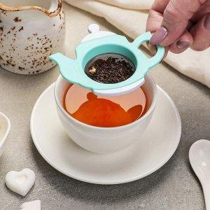 Ситечко для чая, 13,5 см, цвет МИКС
