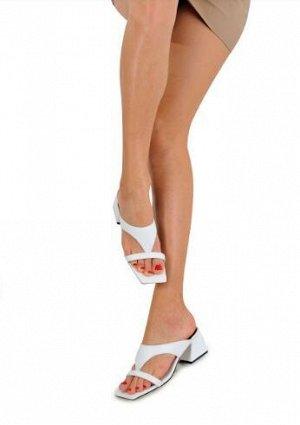 Босоножки Кожа белая Высота каблука 5,5 см
