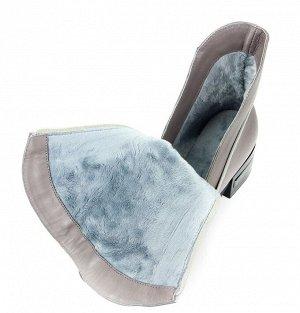 Ботинки натуральная кожа Серый