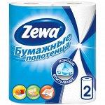 ZEWA (ЗЕВА) Полотенца  бум. 2-х сл.  Кухонные 2 рулона Белые