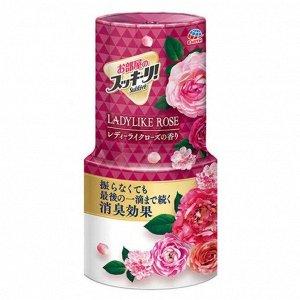 """655516 """"Earth"""" """"Sukki-ri!"""" Жидкий дезодорант-ароматизатор для помещений с цветочным ароматом  (""""Женственная роза"""", для комнаты) 400мл"""