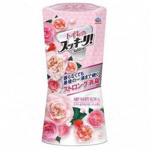 "623119 ""Earth"" ""Sukki-ri!"" Жидкий дезодорант-ароматизатор для помещений с цветочным ароматом (""Белые цветы"", для туалета) 400мл"