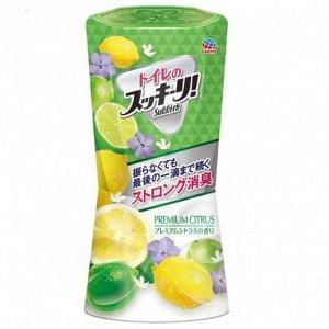 """647115 """"Earth"""" """"Sukki-ri!"""" Жидкий дезодорант-ароматизатор для помещений с фруктовым ароматом (""""Премиальный цитрус"""", для туалета) 400мл"""