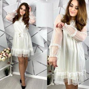 Платье Ткань гипюр