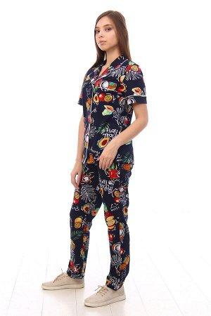 Пижама с коротким рукавом