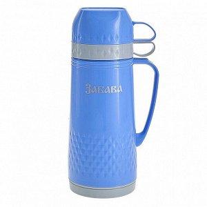 Термос 1 л Забава РК-1001 голубой с серым