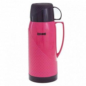Термос 1,8 л ЯРОМИР ЯР-2023С/1 розовый с коричневым