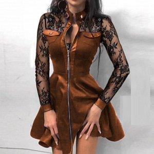 Платье Ткань трикотаж, рукава с гипюр