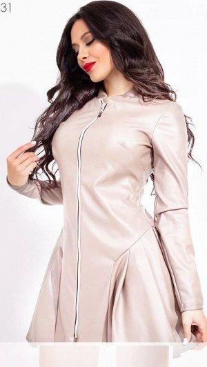Платье Ткань Эко-Кожа