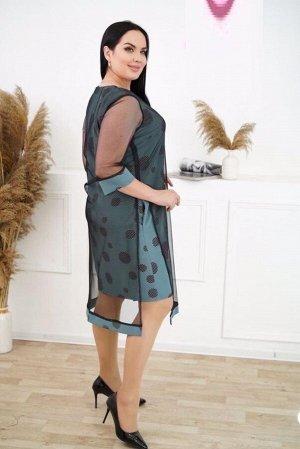 Платье Ткань барби с сеткой