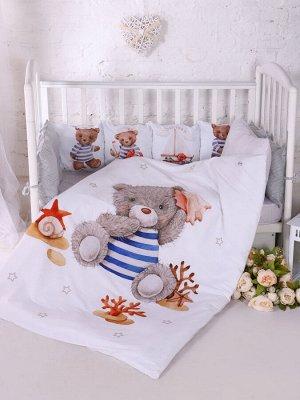 """Набор в кроватку """"Мишка моряк"""""""