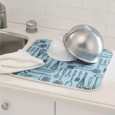 Удобная закупка. Все в одном месте, швабры, канц.товары .... — Коврик  для сушки посуды! — Кухонные полотенца