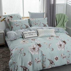 Комплект постельного белья Люкс-Сатин на резинке AR190