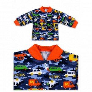 "Кофточка на кнопках футер ""Cars"" Orange"