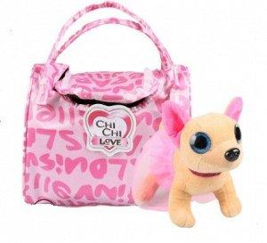 Собачка путешественница в сумке