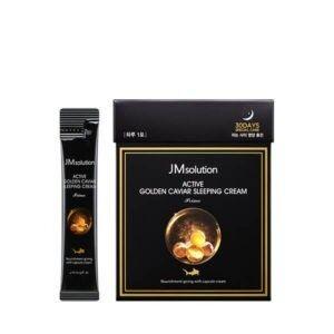 JM SOLUTION ACTIVE GOLDEN CAVIAR SLEEPING CREAM 4ml*30ea НОЧНОЙ КРЕМ С ЭКСТРАКТОМ ИКРЫ И ЗОЛОТОМ