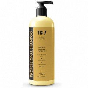TC-7 Восстанавливающий шампунь для сильно поврежденных волос ПРОТЕИНОВЫЙ,Professional Keratin Shampoo 500 мл