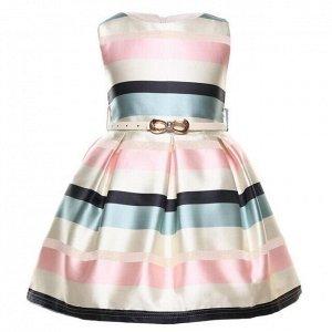 Детское платье, светлое, в полоску