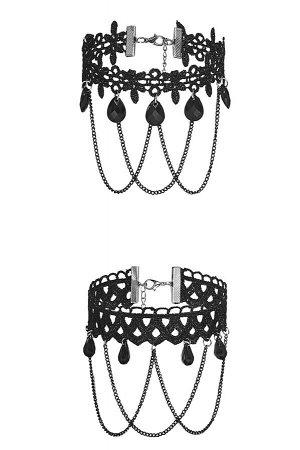 Комплект 4 шт. чокеров Очарование женственности #187286