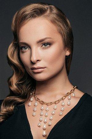Ожерелье с жемчугом ева #187406
