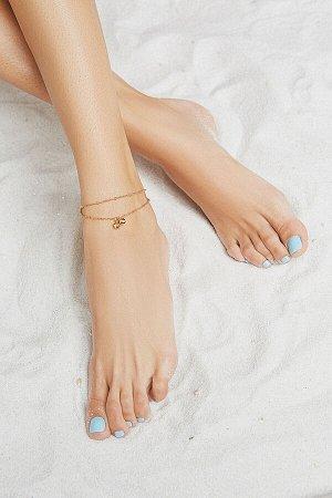 """Браслет на ногу """"Индийский шик"""" #194076"""