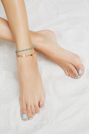 """Браслет на ногу """"Очарование Нефертити"""" #193587"""