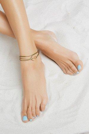 """Браслет на ногу """"Травяное море"""" #190519"""