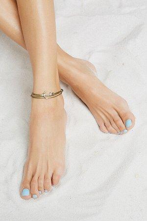 """Браслет на ногу """"Травяное море"""" #189496"""