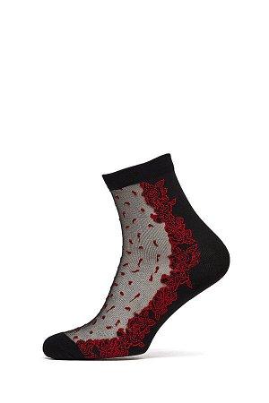 """Носки с вышивкой """"Встреча под цветочным дождем"""" #191174"""