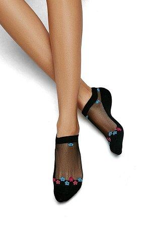 """Укороченные носки """"Таинственный сад"""" #188341"""