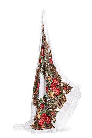 Платок с бахромой Язык цветов #196416