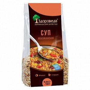 """Суп мексиканский с рисом и кукурузой """"Здороведа"""", 250г."""