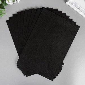 """Фетр жесткий 1 мм """"Чёрный"""" набор 10 листов формат А4"""