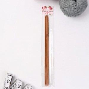 Спицы для вязания, чулочные, d = 2 мм, 25 см, 5 шт