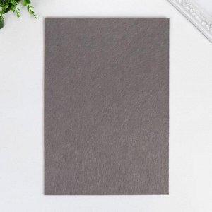 "Фетр жесткий 2 мм ""Серый"" набор 5 листов формат А4"