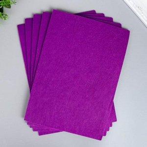 """Фетр жесткий 2 мм """"Фиолетовый"""" набор 5 листов формат А4"""
