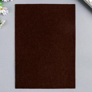 """Фетр жесткий 2 мм """"Шоколад"""" набор 5 листов формат А4"""