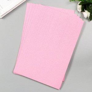 """Фоамиран махровый """"Розовый зефир"""" 2 мм (набор 5 листов) формат А4"""