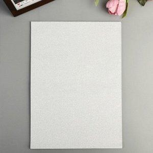 """Бумага на клеевой основе плотность 80 гр """"Блеск серебро"""" набор 10 листов формат А4"""