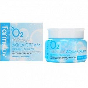 Farm Stay O2 Premium Aqua Cream Увлажняющий крем с кислородом 100 гр