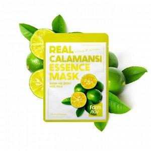 FarmStay Real Calamansi Essence Mask Тканевая маска  для лица с экстрактом каламанси