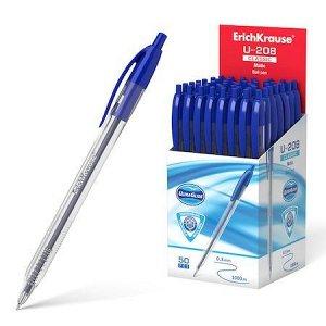 Ручка автоматическая шариковая Ultra Glide Technology U-208 Classic Matic 1.0мм синяя 47570 Erich Krause {Индия}