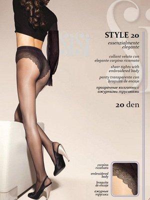 Sisi / Колготки STYLE 20 (ажурные трусики-бикини)