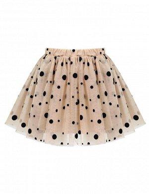 Детская юбка Miss KETMIN Горох на бежевом