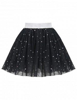 Детская юбка KETMIN Звёздочки на чёрном